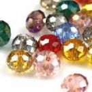 Crystal beads - Faceted Discs 8mm